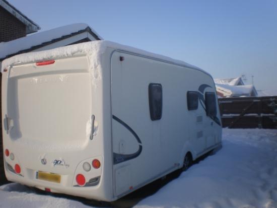Vinterlagret campingvogn