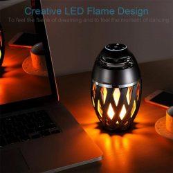 Homelina LED-lampe med flammeimitasjon og bluetooth