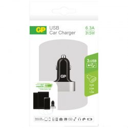 12V plugg GP USB Car Charger m/3 USB