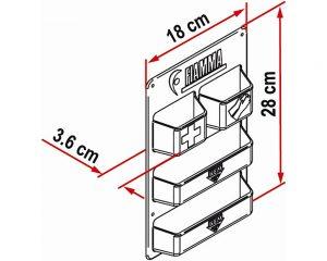 Oppbevaringshylle til serviceluken - Fiamma
